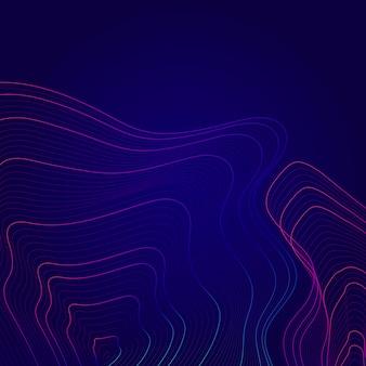 Fondo astratto blu e rosa delle linee di contorno della mappa