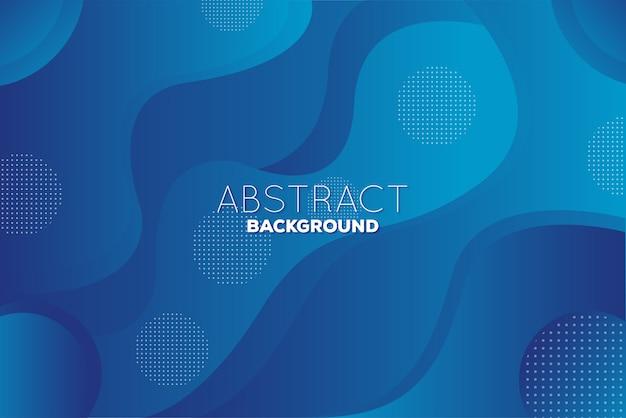 Fondo astratto blu geometrico ondulato con il colore di pendenza