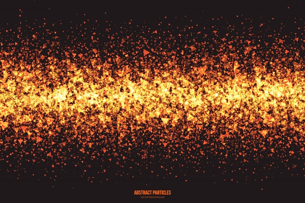 Fondo astratto d'ardore astratto di vettore delle particelle