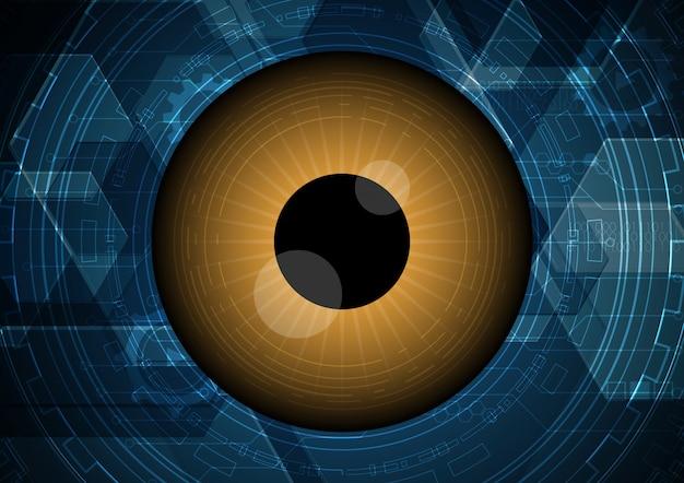 Fondo astratto del cerchio del circuito dell'occhio di tecnologia astratta