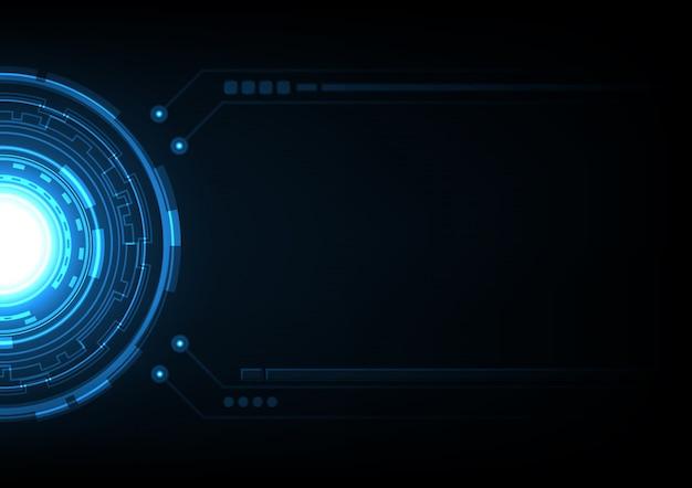 Fondo astratto del cerchio futuro di tecnologia