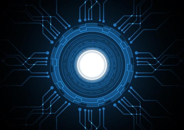 Fondo astratto del circuito del cerchio del futuro di tecnologia