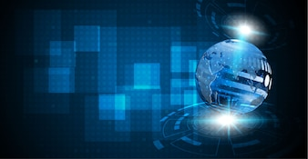 Fondo astratto del circuito digitale della sfera di tecnologia
