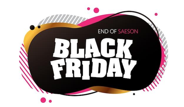 Fondo astratto del modello di progettazione della disposizione dell'insegna di vendita di venerdì nero.