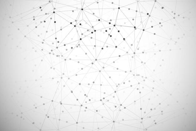 Fondo astratto del poligono di tecnologia digitale
