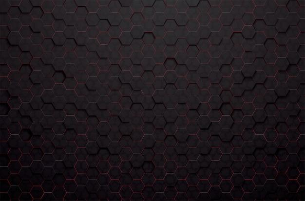 Fondo astratto del poligono nero 3d