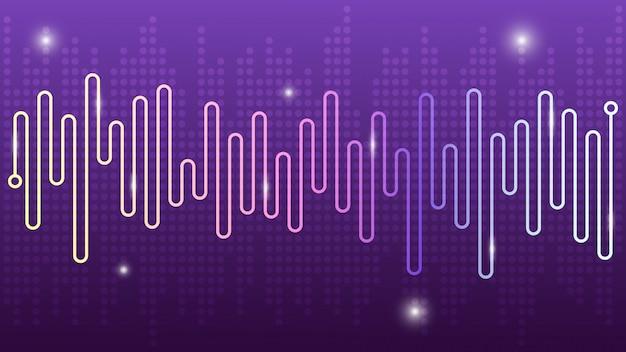 Fondo astratto dell'equalizzatore dello spettro della linea dell'onda, progettazione moderna di audio di musica.