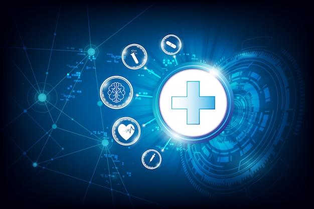 Fondo astratto dell'innovazione di sanità di tecnologia