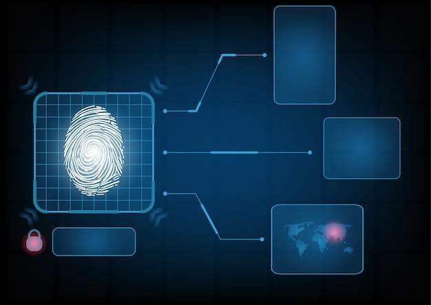 Fondo astratto dell'interfaccia di sicurezza di tecnologia digitale