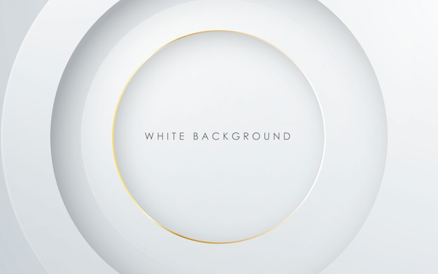Fondo astratto di bianco di strato del cerchio 3d