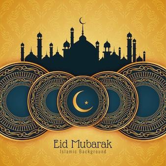 Fondo astratto di celebrazione di festival di eid mubarak