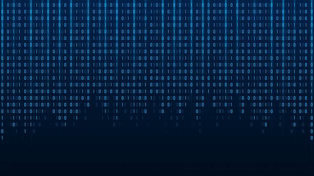 Fondo astratto di codice binario di tecnologia