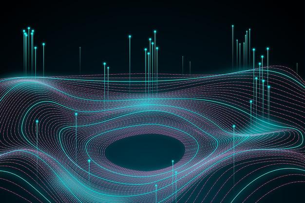 Fondo astratto di concetto di grandi quantità di dati