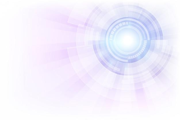 Fondo astratto di concetto di tecnologia. illustrazione vettoriale