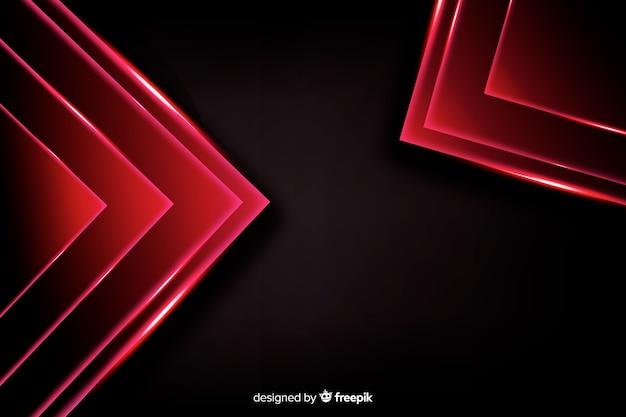 Fondo astratto di forme delle luci rosse