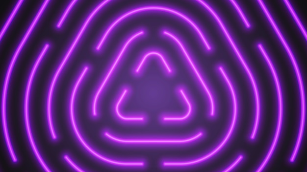 Fondo astratto di illuminazione al neon viola di vettore