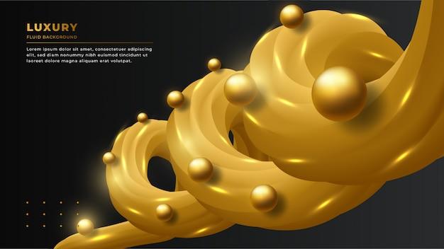 Fondo astratto di lusso moderno con forme fluide 3d