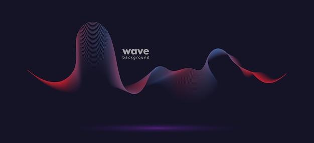 Fondo astratto di pendenza dell'onda di moto del suono.