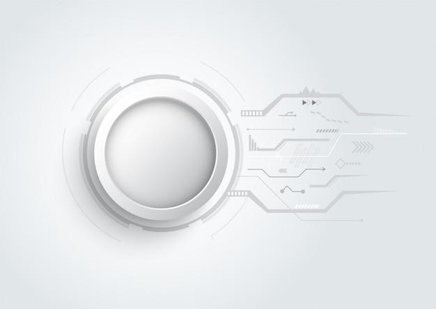 Fondo astratto di progettazione 3d con il circuito del punto e della linea di tecnologia. concetto di comunicazione moderna, futuristica, scienza. illustrazione vettoriale