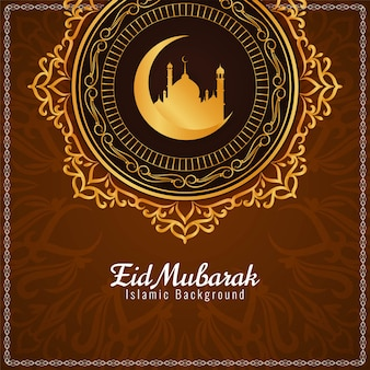 Fondo astratto di progettazione islamica di eid mubarak