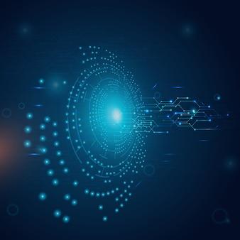 Fondo astratto di tecnologia, ciao-tecnologia o concetto futuro digitale di tecnologia