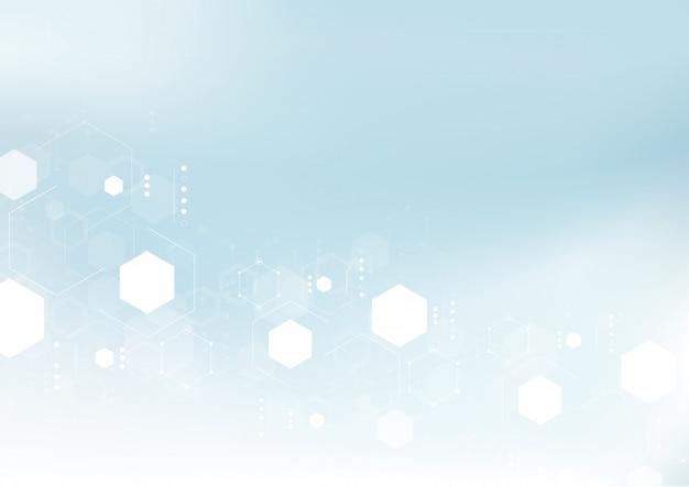 Fondo astratto di tecnologia della struttura molecolare.