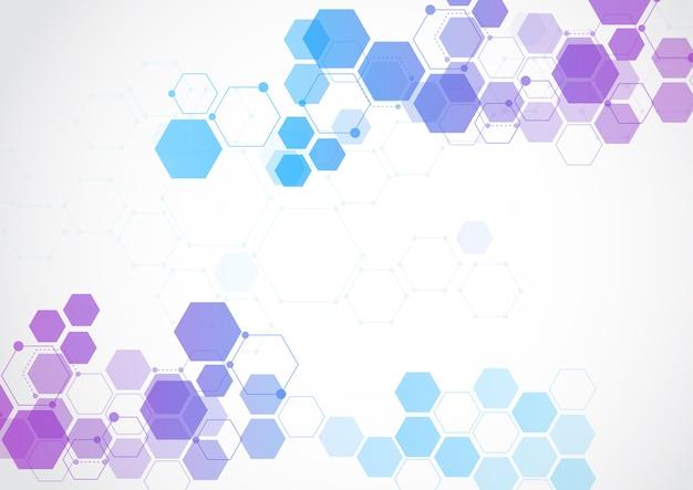 Fondo astratto di tecnologia della struttura molecolare
