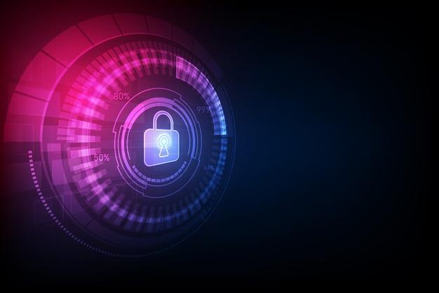 Fondo astratto di tecnologia digitale di sicurezza