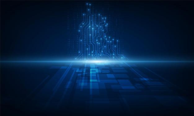 Fondo astratto di tecnologia priorità bassa dell'innovazione di concetto di comunicazione di alta tecnologia