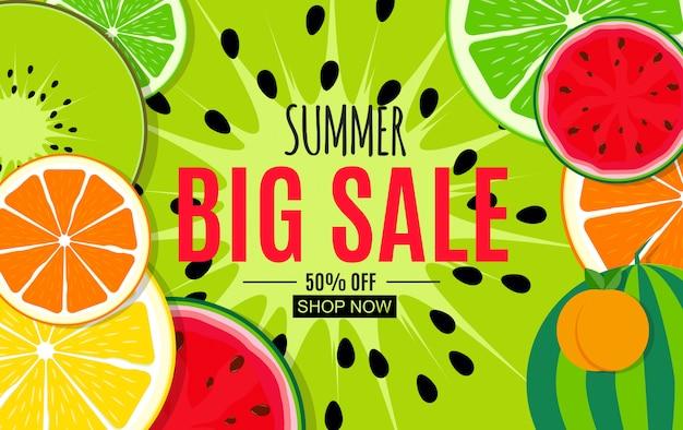 Fondo astratto di vendita di estate