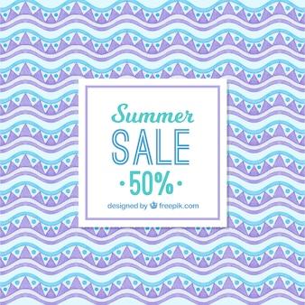 Fondo astratto di vendite di estate in acquerello
