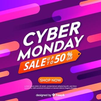 Fondo astratto di vendite di lunedì cyber