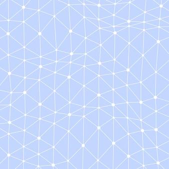 Fondo astratto di vettore con i punti collegati asimmetrici