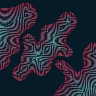 Fondo astratto di vettore con le onde dinamiche. illustrazione adatta per il design