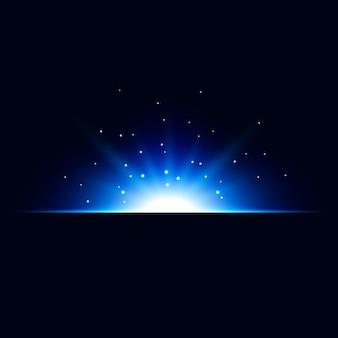 Fondo astratto di vettore di effetto della luce blu