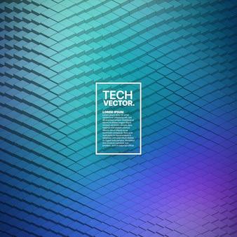 Fondo astratto di vettore di forma d'onda di tecnologia 3d