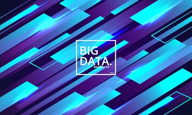 Fondo astratto di visualizzazione di grandi quantità di dati