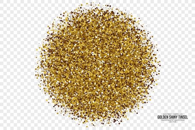 Fondo astratto dorato brillante di vettore del lamé