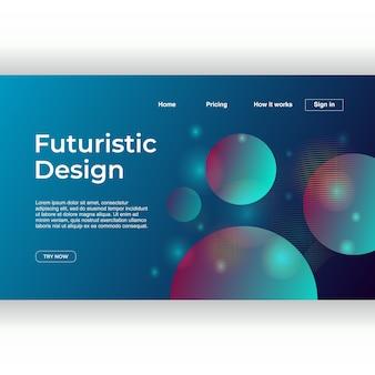 Fondo astratto geometrico futuristico per la pagina di atterraggio