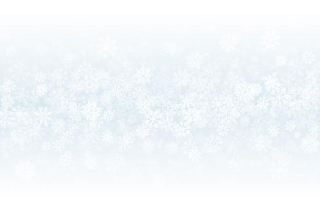 Fondo astratto leggero in bianco della neve di inverno