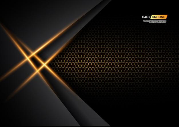 Fondo astratto moderno 3d con luce gialla