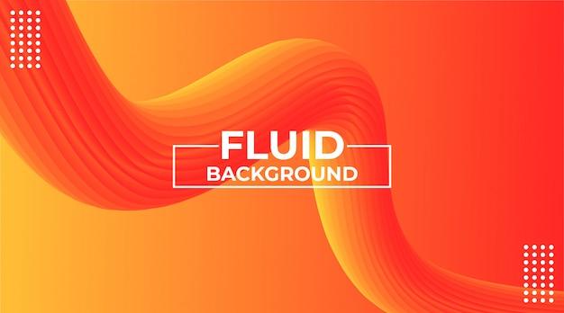 Fondo astratto moderno con forme fluide 3d