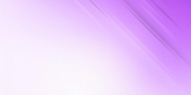 Fondo astratto moderno con linee o strisce diagonali ed elementi di semitono e sfumatura pastello di colore viola con un tema di tecnologia digitale.