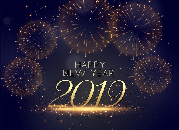 Fondo bello dei fuochi d'artificio 2019 di celebrazione
