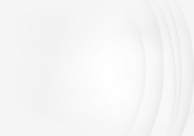 Fondo bianco con il modello astratto della linea dell'onda dell'ombra