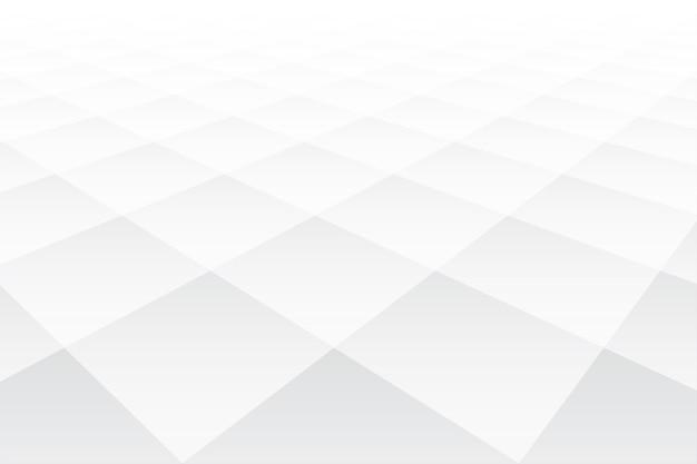 Fondo bianco di forma del diamante di stile di prospettiva 3d