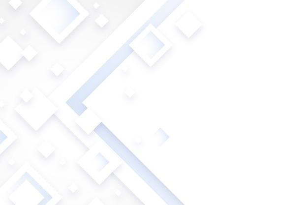 Fondo bianco di forme del diamante nello stile della carta 3d