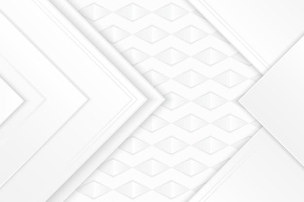Fondo bianco di struttura delle frecce poligonali