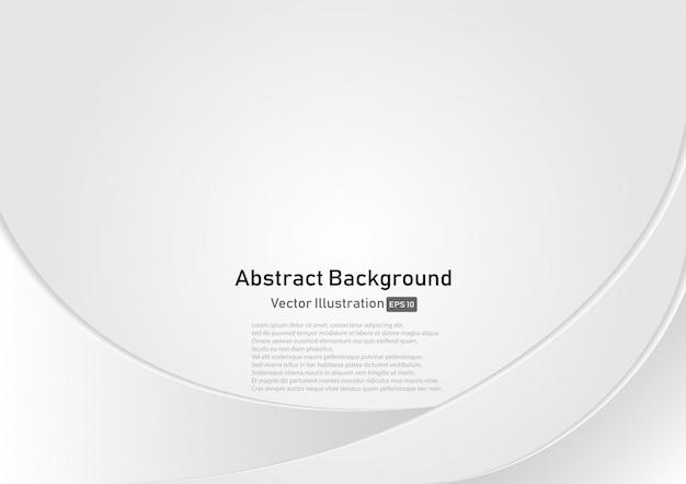 Fondo bianco e grigio astratto della curva