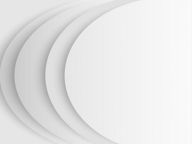 Fondo bianco e grigio di vettore del tono della carta in bianco astratta del cerchio
